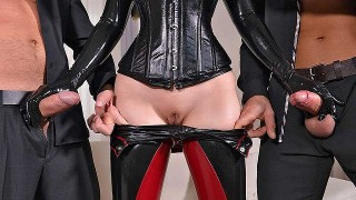 Latex Lucy – Mystery Masks – Latex Loving Threesome For Fetish Lovers