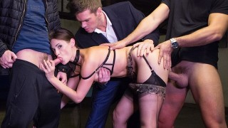 Claire Castel – LUXURE – Claire Castel, Fucked Hard By 3 Men In A Parking Lot