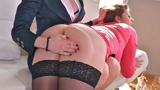 Zara Durose & Lucia Love – Lick It, Twist It, Eat It – Lesbian Fetish Training In The Office