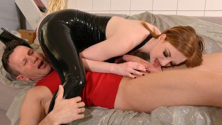 Zara DuRose – Lazy Craftsman – Red-Haired Dominatrix Humiliates Tiler