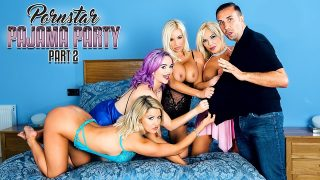 Aaliyah Ca Pelle, Jasmine James, Michelle Thorne & Sienna Day – Porn Star Pajama Party Part 2
