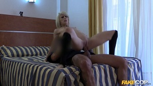 Nora – Blonde Exhibitionist Fucked by Cop