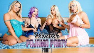 Aaliyah Ca Pelle, Jasmine James, Michelle Thorne & Sienna Day – Porn Star Pajama Party Part 1