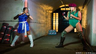 Christen Courtney & Rina Ellis – Sex Fighter: Chun Li vs. Cammy (XXX Parody)