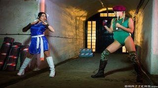 Christen Courtney & Rina Ellis – Sex Fighter: Chun Li vs. Cammy (XXX Parody)