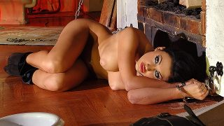 Aletta Ocean – Hot And Handcuffed – Brunette Milf Pees On Hardwood Floor