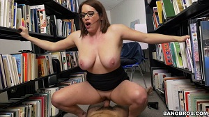 Maggie Green – Checking out the big tits at the library