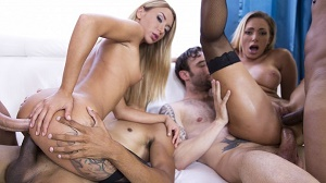 Katrin Tequila & Juelz Ventura – Extreme 4on2 orgy with DP, DAP and more RS274
