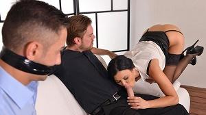 Jasmine Jae – The Bound Cuckold – A Horny Wifes Deep Throat Affaire