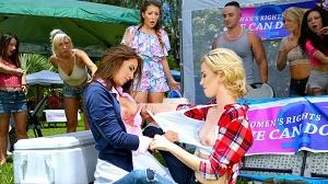Layla London, Haley Reed & Mila Jade – Catfight on Campus