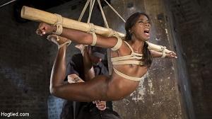 Ana Foxxx – Stunning Ebony Slut in Brutal Bondage and Tormented