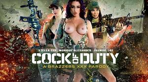 Monique Alexander, Jasmine Jae & Stella Cox – Cock Of Duty: A XXX Parody