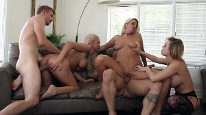 Britney Amber, Nina Elle, Kenzie Taylor, Layla Price & Alena Croft – Hot Busty Girls Getting Their Juicy Pussy Licked And Fucked Hard