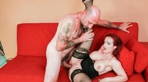 Mary Rider – Omar Galanti gives cum on tits to Italian redhead MILF Mary Rider