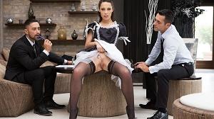 Nikita Bellucci – Maid Nikita gets fucked by 3 men