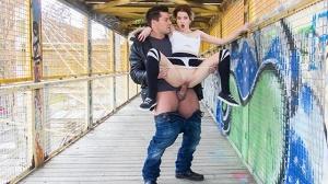 Mey Madness – Wild public outdoor fucking with hot tattooed Spanish babe Mey Madness