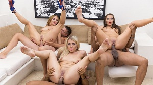 Maria Devine, Lara Onyx & Kyra Blonde – 3on3 double anal orgy RS243