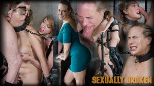 Angel Allwood & Dee Williams – Angel Allwood is neck bound on a Sybian and throat fucked while violently cumming over and over!