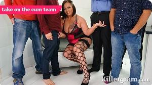 Samantha Stockings – Take On The Cum Team