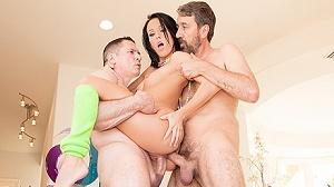 Megan Rain – Megan Rain Dp'd, She Takes Two Loads In Her Asshole!