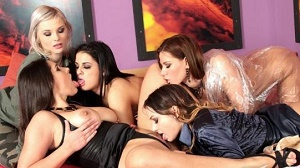 Zafira, Coco De Mal & Tyra Moon – FIRED UP For Zafira! A Pile Of Lesbos Pack It On This EuroGoddess!