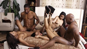 Kira Noir, Nat Turnher, Sean Michaels, Isiah Maxwell, Adriana Maya & Amilian Kush – Hot Ebony Girls Gets Fucked Hard Interracially