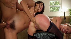 Cherie Deville & Gina Valentina – 19 year Old Slut Teaches Anal Fiance How to Serve Daddy