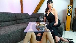 Lady Cosima & Vanessa Voxx – Hot German dominatrix Lady Cosima dominates submissive slave babe PT 1