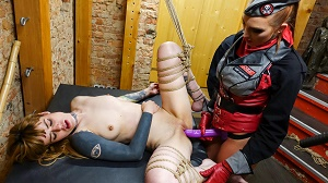 Paula Rowe, Izzy Mendosa & Kylie Kay – Intense Bdsm and foot fetish action with German slave babes and guards