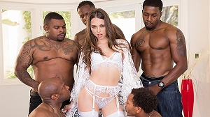 Riley Reid – Interracial Gangbang! No Holes Barred! Where Will All Those Big Black Cocks Go?