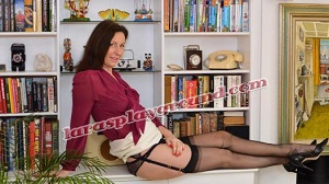 Lara's Playground – Sexy Secretary In Stockings