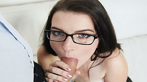Miky Di Amond – Geeky glasses with black panties