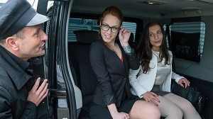 Therese Bizzare – Intense backseat fuck session with gorgeous Czech babe Therese Bizzare