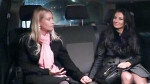 Sandra – Cheeky Czech brunette Sandra enjoys intense FFM threesome in the backseat