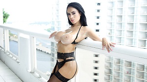 Victoria June – Big Tits In Black Lingerie