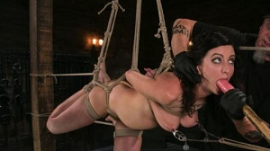 Cherry Torn – Bound Slave Cherry Torn Tormented in Rope Bondage and Multiple Orgasms