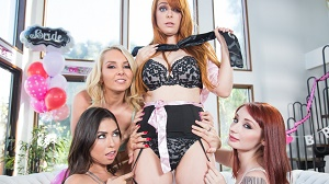Penny Pax, Violet Monroe, Melissa Moore & Aaliyah Love – Strap-On Stories: Gangbang Bachelorette