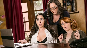 Penny Pax, Karlee Grey & Sinn Sage – Lady Boss: Caught At The Office