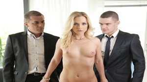 Cristal Caitlin – High Class Blonde Housewife Gets Dp By Hubby And His Boss