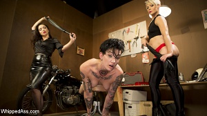 Helena Locke, Nikki Hearts & Lea Lexis – Lazy Mechanic Nikki Hearts Gets Tag-Teamed by Boss & Client