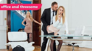 Misha Cross & Carmel Anderson – Office Anal Threesome
