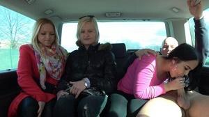 Jennifer – Girlfriends left one of them enjoy cock in driving van