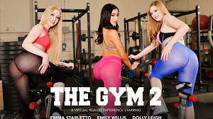 Dolly Leigh, Emily Willis & Emma Starletto – Group sex in the gym with Dolly Leigh, Emily Willis, and Emma Starletto VR