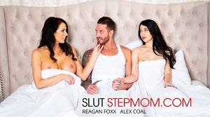 Alex Coal & Reagan Foxx – Alex Coal fucks her boyfriend with her Slutty stepmom Reagan Foxx