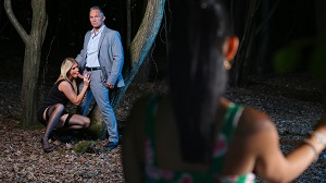 India Summer & Aysha – Voyeur moment in the woods for India Summer