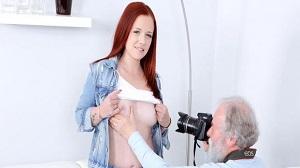 Tiffani Love – Grey-haired photographer seduces brunette into making sex
