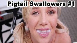 Heather Lee, Lilly Ford, Mindy Belle & Tracey Sweet – Pigtail Swallowers Compilation Volume 1