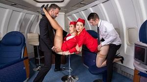 Alexis Crystal & Misha Cross – Horny flight on Dorcel Airline