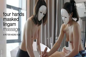 Hegre – Four Hands Masked Lingam Massage
