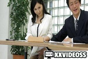 Miyuki Ojima – Hot news announcer Miyuki Ojima sucks cock during the news